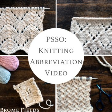 Examples of PSSO Knit Stitch