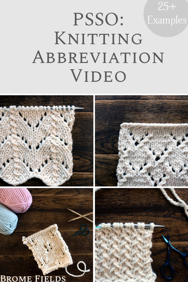 PSSO : Knit Stitch Abbreviation