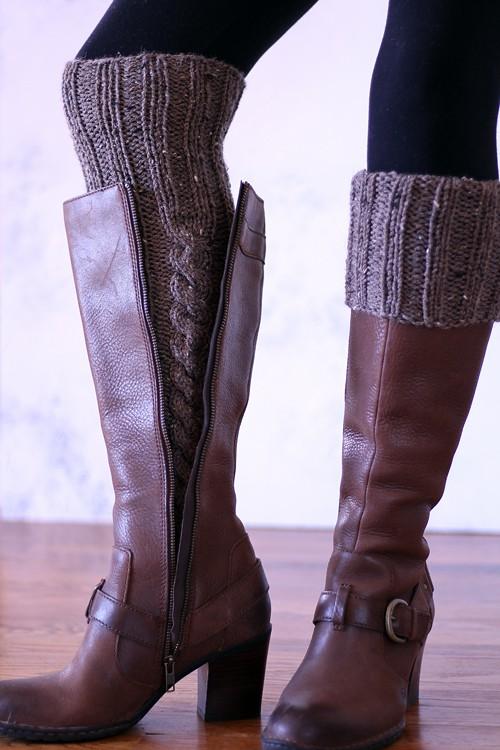 Intentional Womens Leg Warmer Knitting Pattern Brome Fields