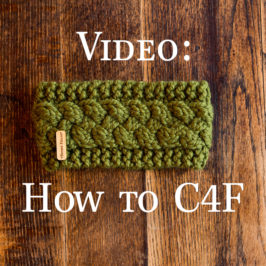 Video: How to Cable Stitch : C4F