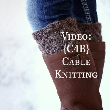 model wearing knit boot cuffs