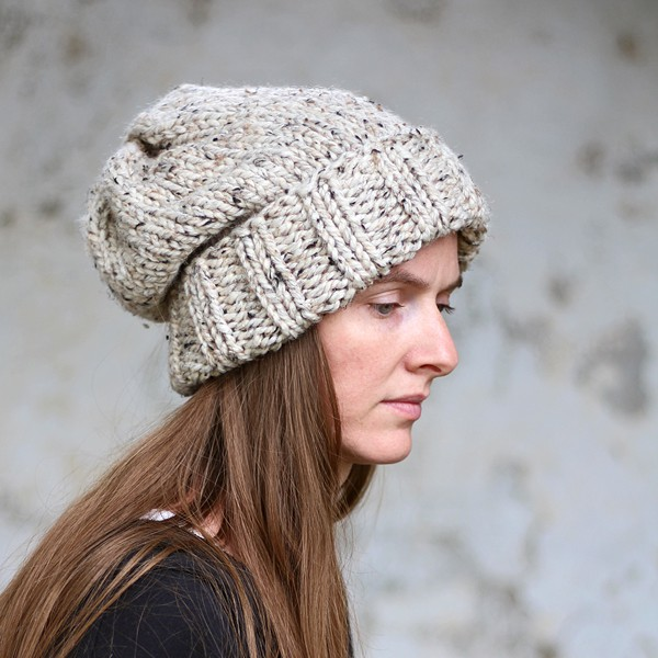 Womens Knit Hat Pattern : WISDOM : Women s Slouchy Hat Knitting Pattern   Brome Fields