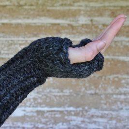AWARENESS Fingerless Gloves Knitting Pattern
