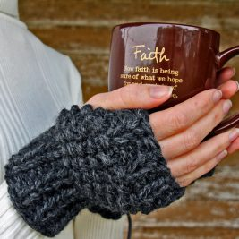 DETERMINATION Fingerless Gloves Knitting Pattern