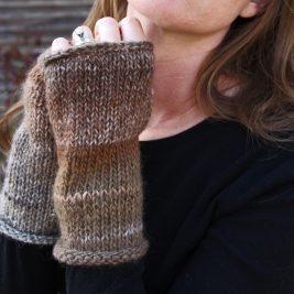 BALANCE Fingerless Gloves Knitting Pattern