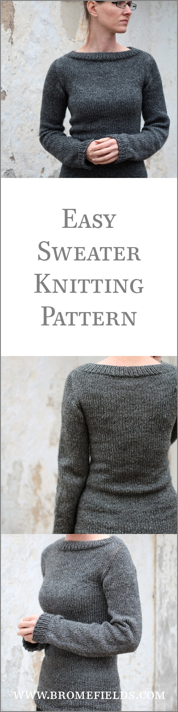 Easy Sweater Knitting Pattern!