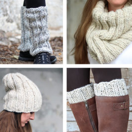 New Set of Knitting Patterns {boot cuff, leg warmer, hat & cowl, oh my!}