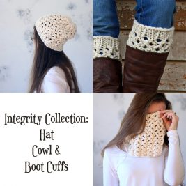 INTEGRITY Collection - Women's Boot Cuff, Cowl & Hat Knitting Patterns