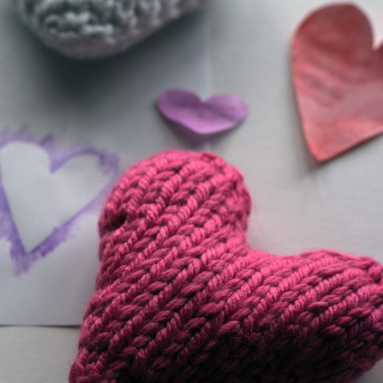 Knitted Heart Pattern For Beginners : MERCIFUL : Heart Knitting Pattern   Brome Fields