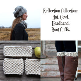 Reflection Knit Set – Hat, Cowl & Boot Cuffs
