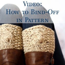 Video: How to Bind-off in Pattern