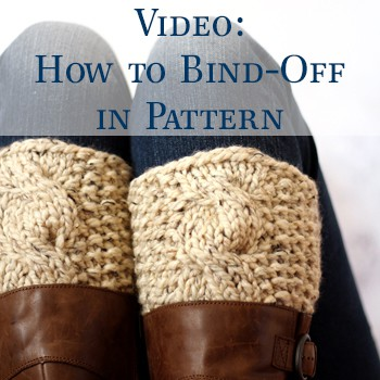 Video : How to bind-off in pattern