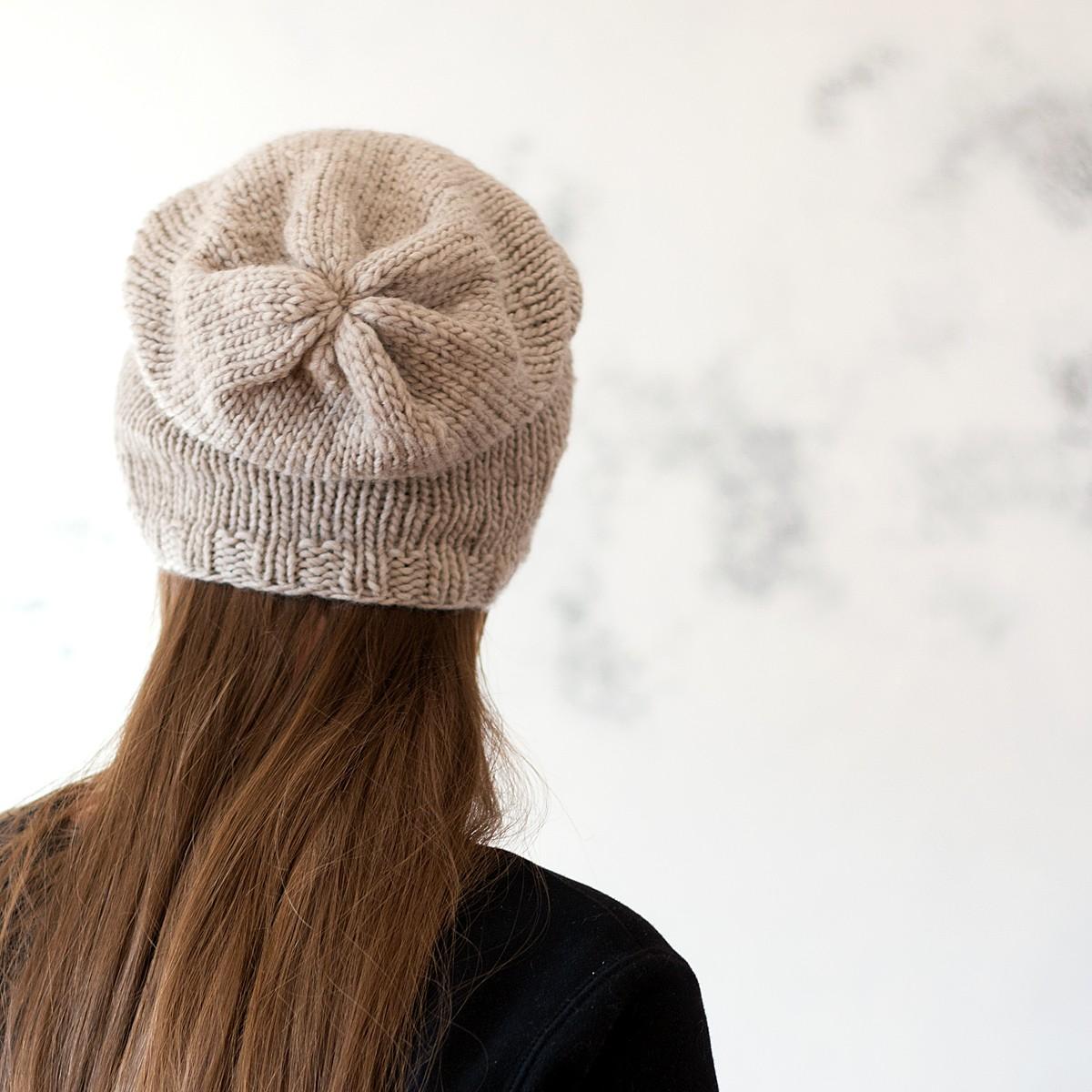 Knitting Pattern Womens Hat : INPSIRATIONAL : Women s Slouchy Hat Knitting Pattern ...