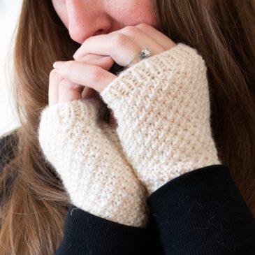 LOVE Fingerless Gloves Knitting Pattern