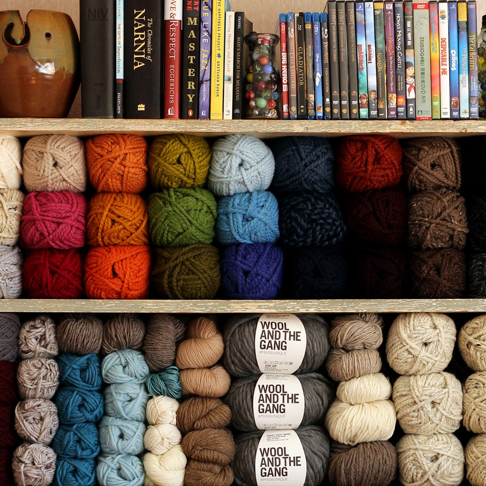 Knitting Inspiration Shelf