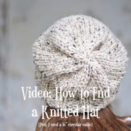 Video: How to End a Knitted Hat