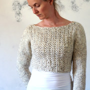 SILENCE - Sweater / Crop Tom Knitting Pattern