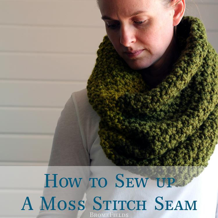 How to Sew a Moss Stitch Seam