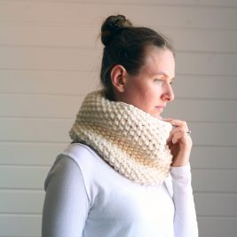 Reflection Cowl Knitting Pattern by Brome Fields