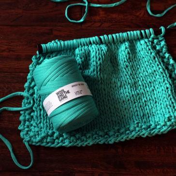 Jersey Be Good Rug Knitting Pattern