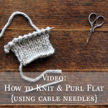 How to Knit & Purl with Cable Needles