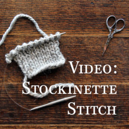 Video: Stockinette Knit Stitch