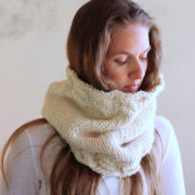 Grace Cowl Knitting Pattern by Brome Fields