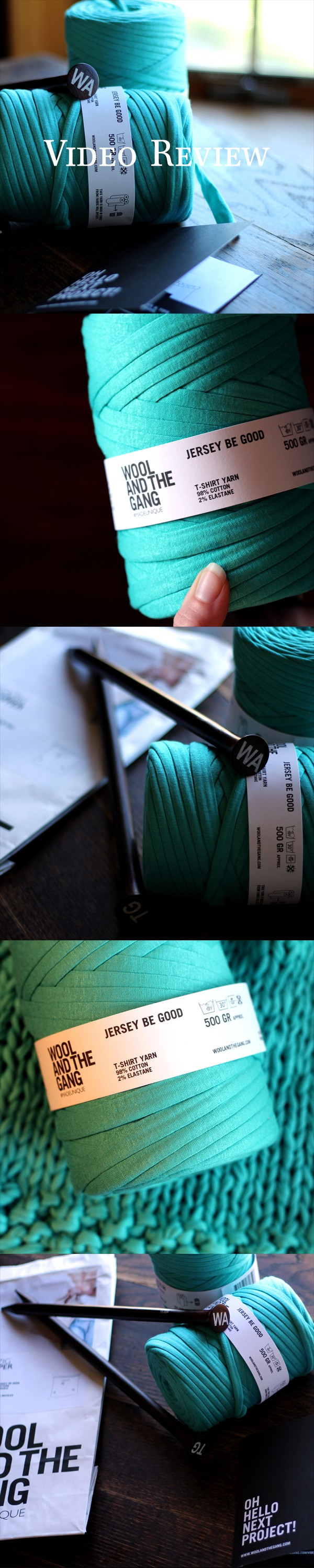 Jersey Be Good by Wool and the Gang Yarn Review Video by Brome Fields
