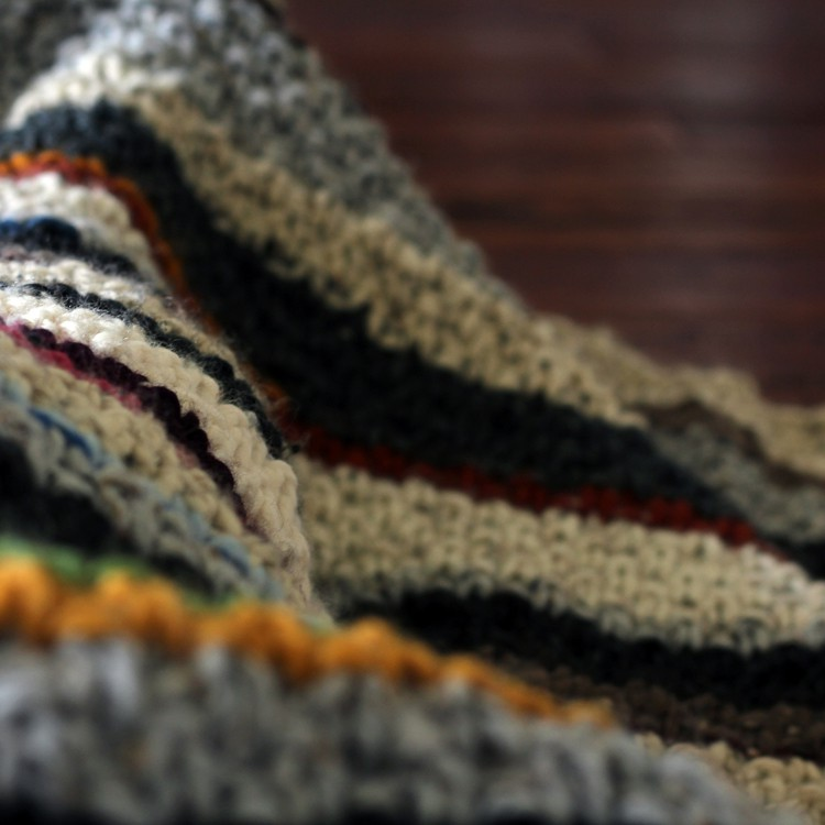Stripped Knitted Blanket