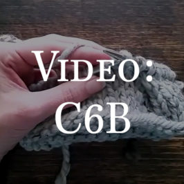 Video: How to Cable Knit : C6B