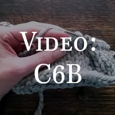 How to Cable Stitch C6B