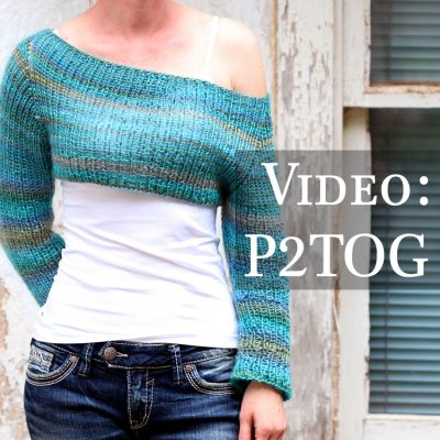 Video: How to Decrease a Stitch Purl-wise : P2TOG