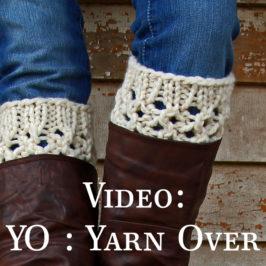 Video: How to Yarn Over : YO