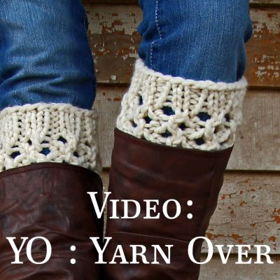 Video: How to Yarn Over : YO