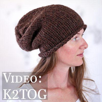K2TOG : How to Decrease a Stitch
