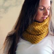 DIGNITY : Mustard Cowl Knitting Pattern