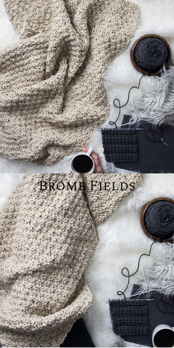 Blanket Knitting Pattern by Brome Fields