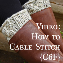 Video: How to Cable Knit : C6F