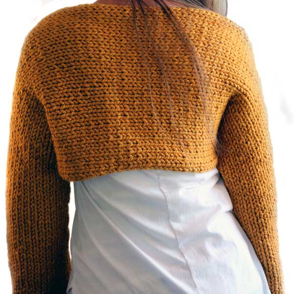 Thrive Shrug Sweater Crop Top Knitting Pattern