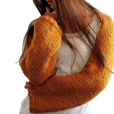 Sweater Shrug Knitting Pattern : Brome Fields