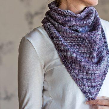 CHEERFUL : Bandana Kerchief Knitting Pattern