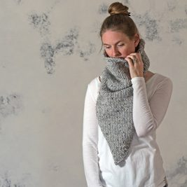 DEFIANCE : Women's Triangle Cowl Knitting Pattern