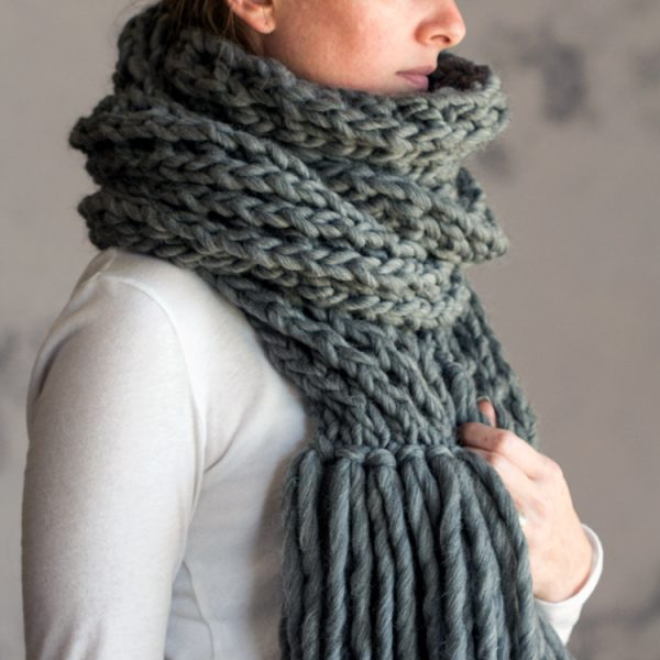 IN AWE : Women s Scarf Knitting Pattern   Brome Fields