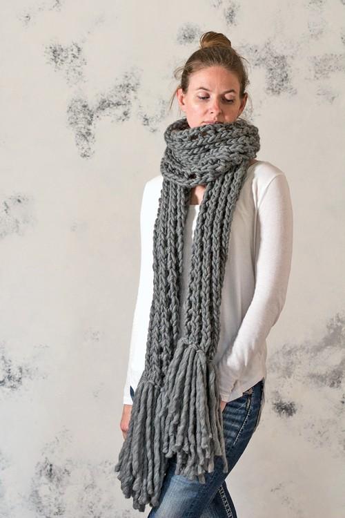 IN AWE : Women s Scarf Knitting Pattern   Brome Fields