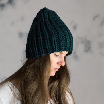 JUST BREATHE: Women's Slouchy Hat Knitting Pattern