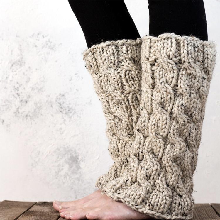 Knitting Pattern For Ladies Leg Warmers : MAJESTY : Women s Leg Warmer Knitting Pattern   Brome Fields
