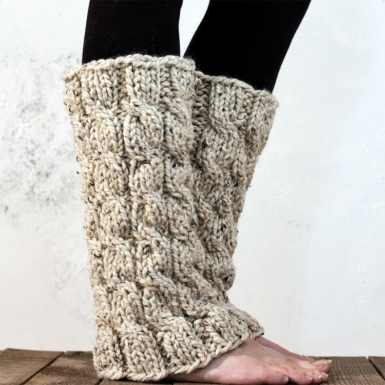 MAJESTY : Women\'s Leg Warmer Knitting Pattern - Brome Fields