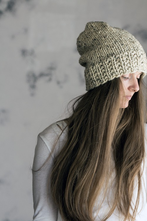 Oneness Womens Slouchy Hat Knitting Pattern Brome Fields