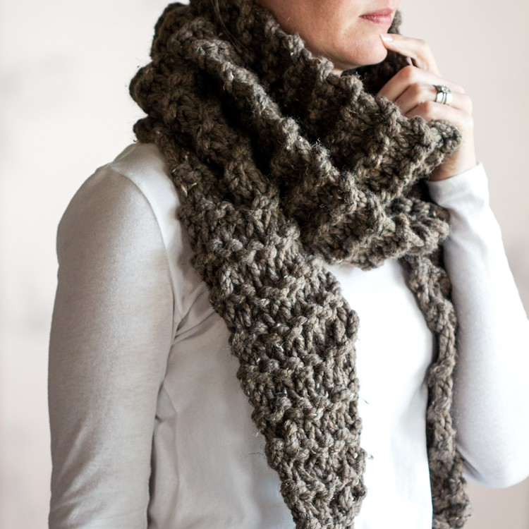 Purity Scarf Knitting Pattern Brome Fields