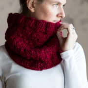 SERENITY : Cowl Knitting Pattern